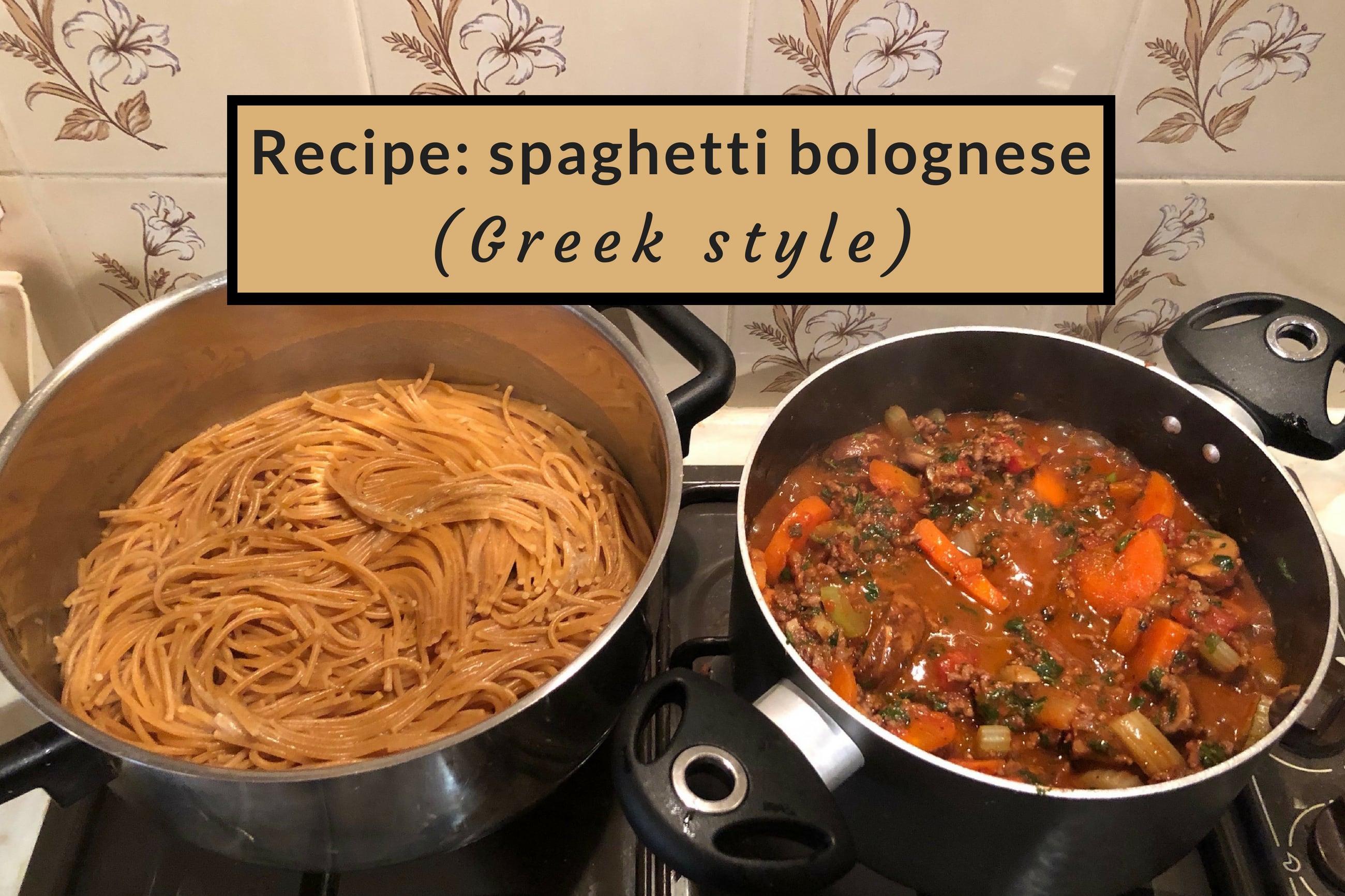 Cover pic Greek inspired spaghetti bolognese recipe