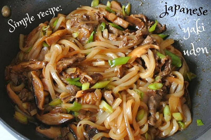 Simple Japanese yaki udon recipe