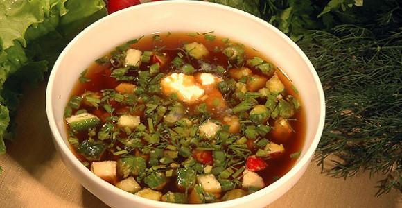 Okroshka soup