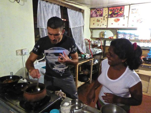 Learning to cook deviled prawns