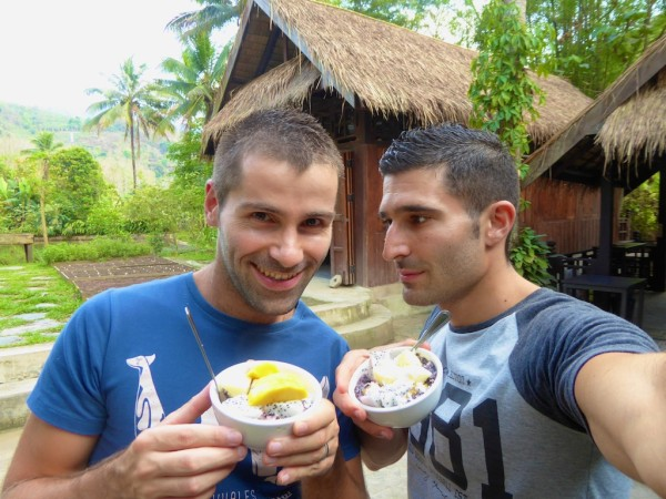 Laotian coconut sticky rice prizes