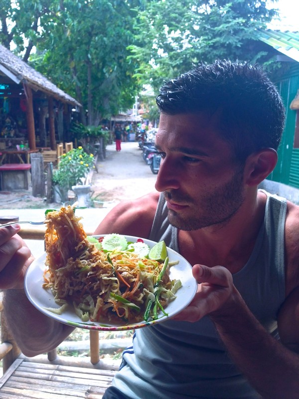 best Street food in Thailand Stefan with freshly made Pad Thai