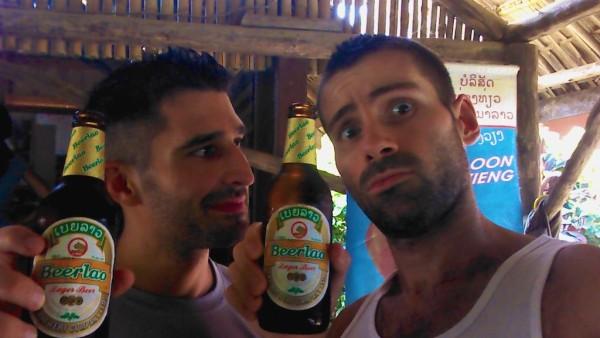 Our Beerlao selfie