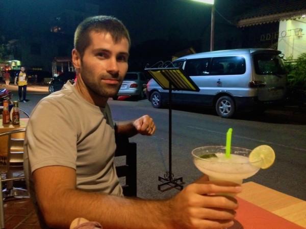 Sebastien with a Laotian Margarita