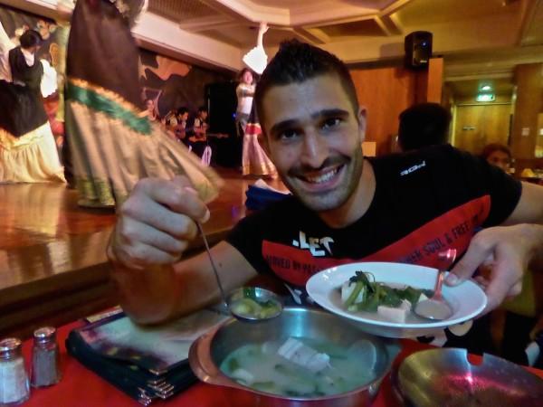 Stefan serving pork sinigang