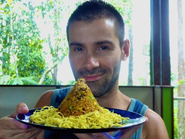 Nasi goreng best traditional food of Indonesia Borneo island