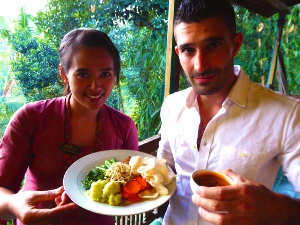 Gado gado vegetarian best traditional food of Indonesia in Ubud, Bali