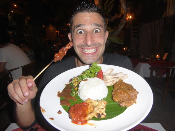 Nasi Campur best traditional food of Indonesia and the National Dish