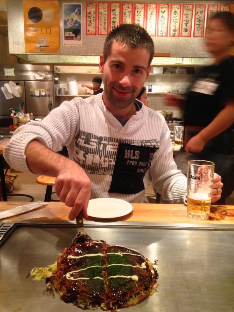 Okonomiyaki Japanese pizza one of 10 best traditional foods of Japan
