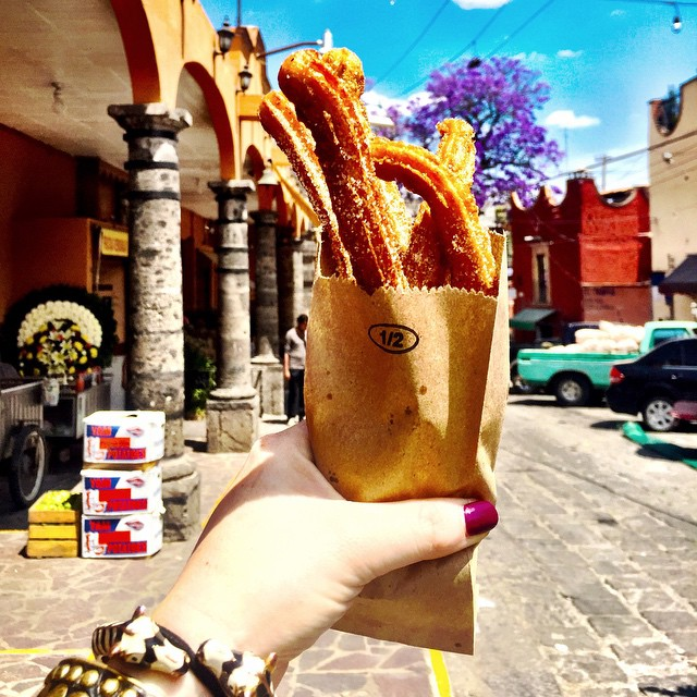 Churros best food of Cancun Mexico