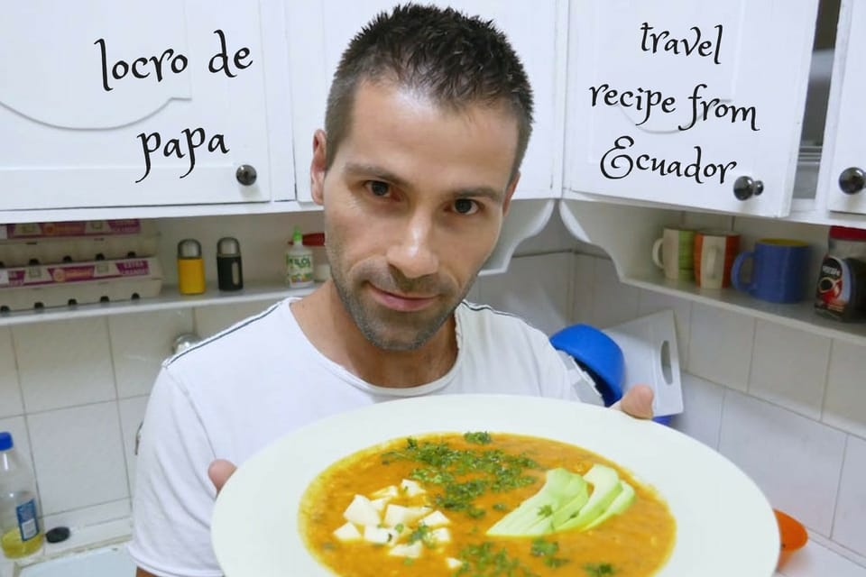 Recipe for locro de papa soup