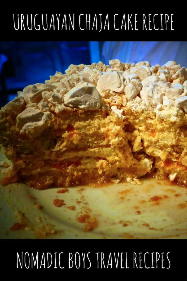 Recipe for Uruguayan chaja cake by the Nomadic Boys