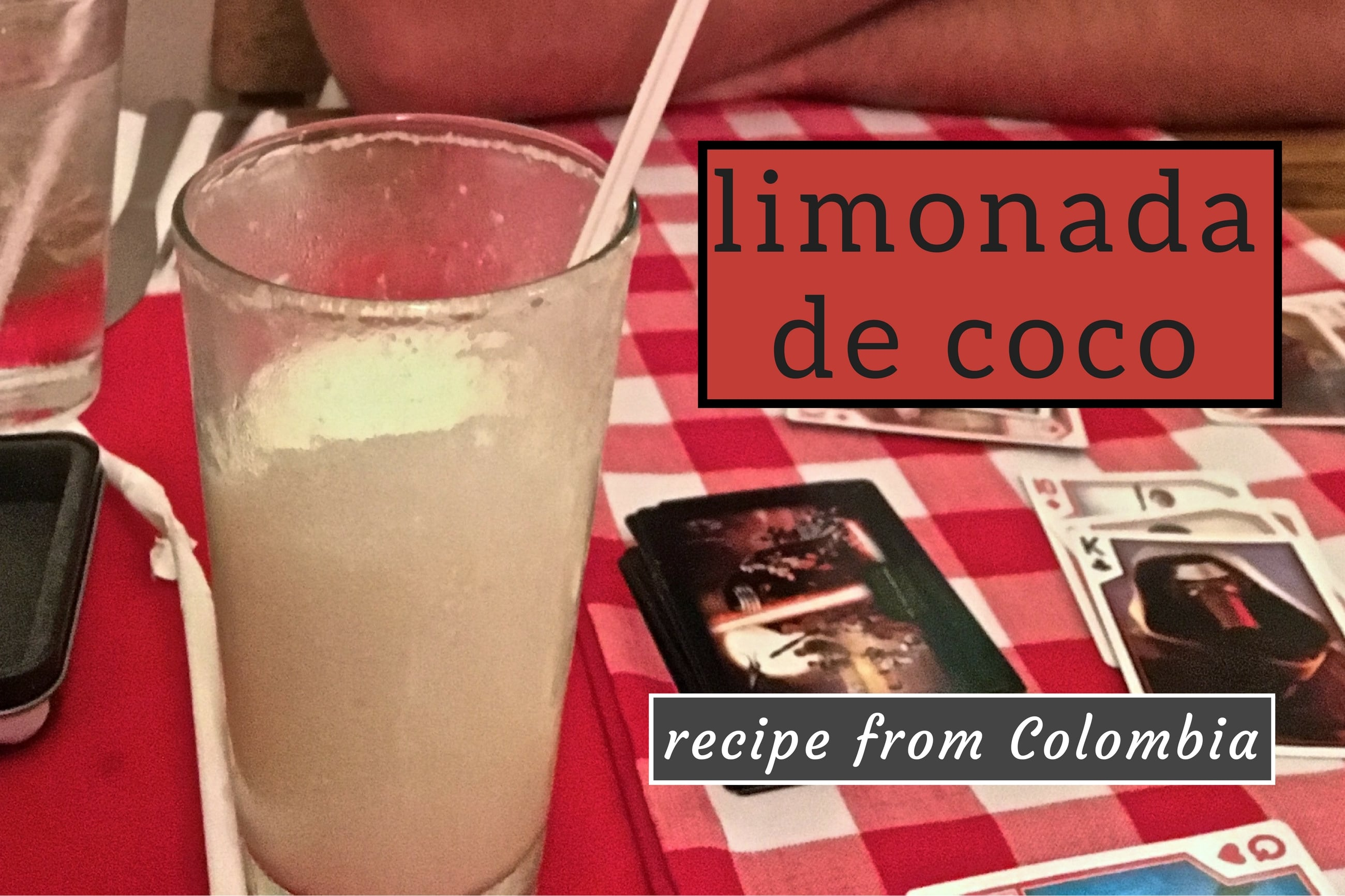 Colombian limonada de coco recipe