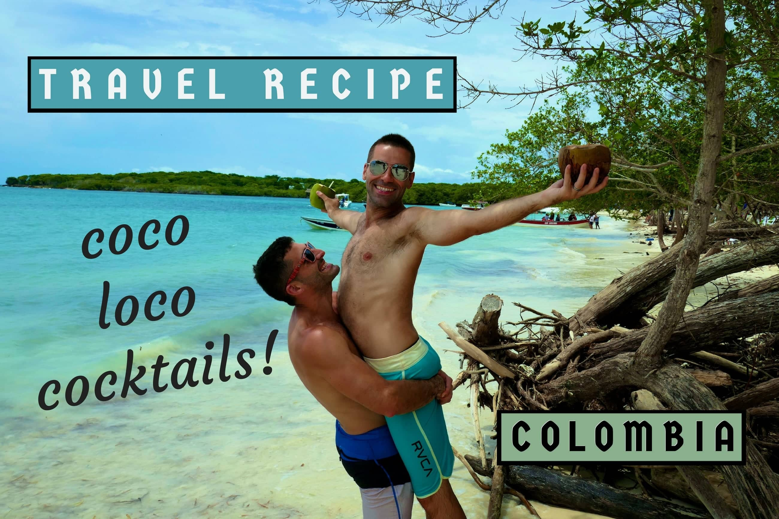 Recipe for Colombian coco loco cocktails