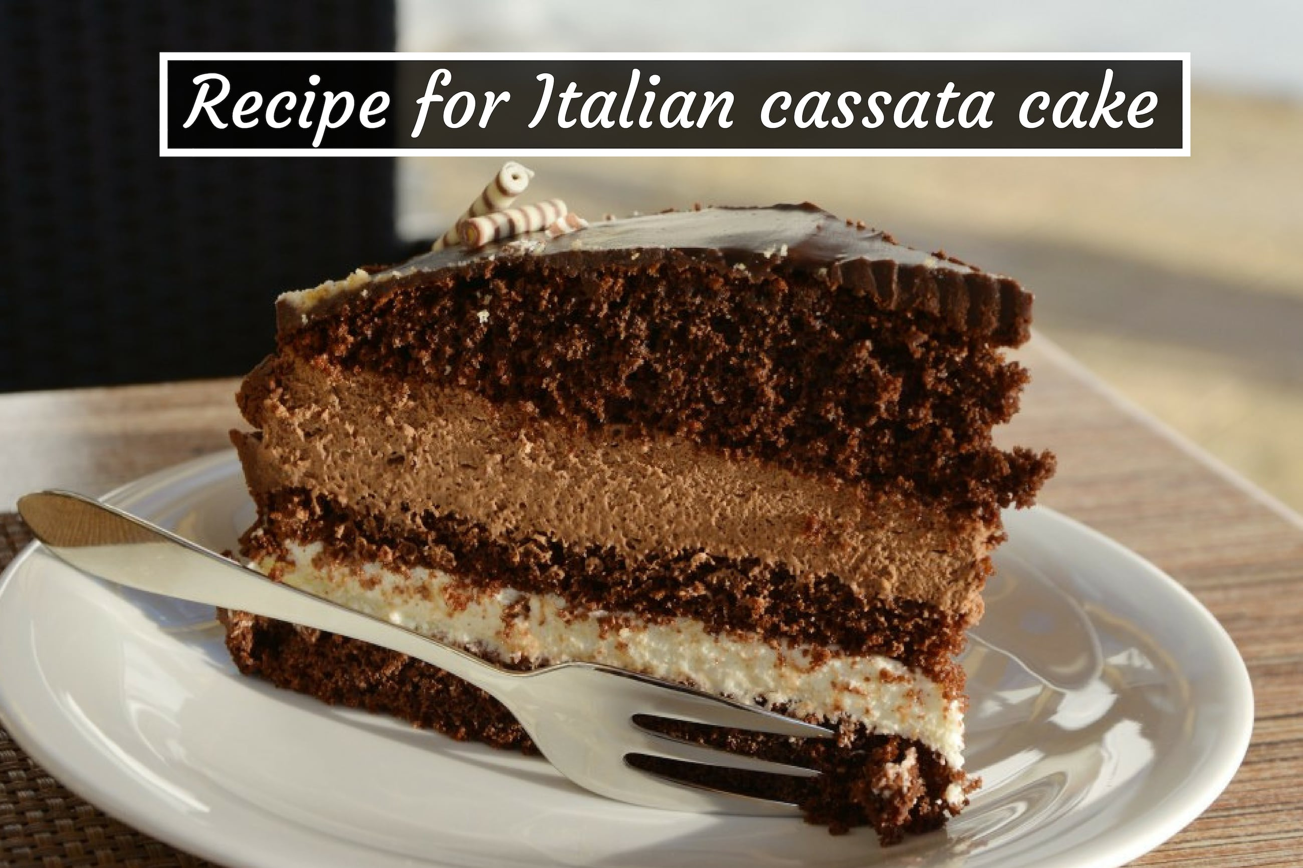 Our recipe for delicious Italian cassata cake