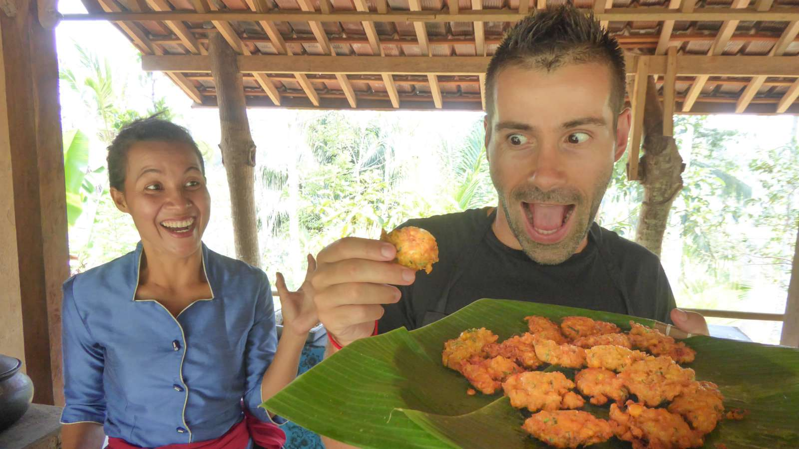 Cooking class Ubud Seb with perkedel jagung sweetcorn fritters